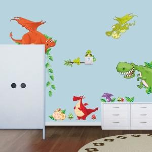 Stickere pentru copii  - Dragoni jucausi1