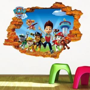 Stickere pentru copii - Patrula catelusilor - 50x70 cm0