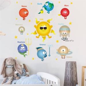 Stickere pentru copii - Planete si soare - 65x65 cm3