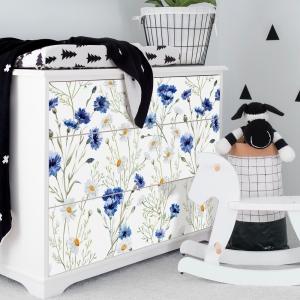 Autocolante pentru mobila - Musetel si albastrele - 20x80 cm x 3 bucati [1]