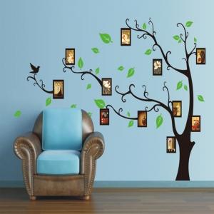 Stickere perete pentru camera de zi - Copac cu rame foto4