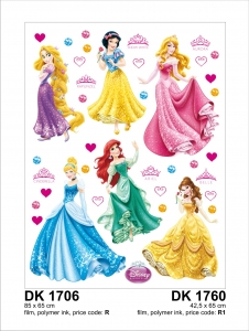 Sticker Printese Disney - 65x85cm - DK17061