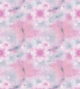 Tapet pentru copii - netesut roz cu flori - Walt Disney0