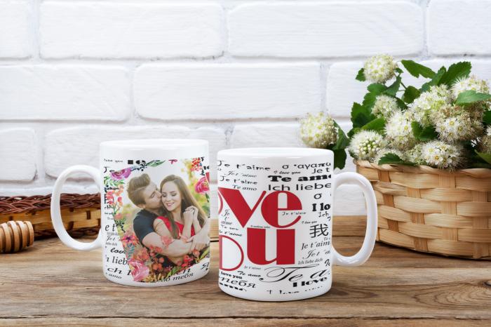 Cana personalizata cu poza si mesaj - Love you [0]