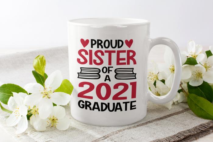 Cana personalizata cu poza / mesaj - Proud Sister of a Graduate [0]