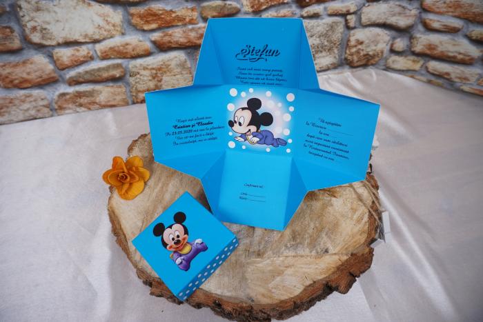 Invitatie de botez 3620B Mickey Mouse [1]