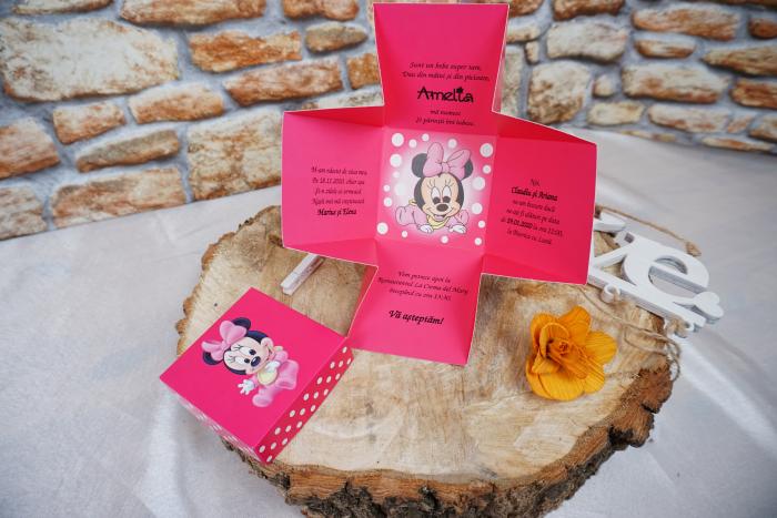 Invitatie de botez 3621B Minnie Mouse [1]