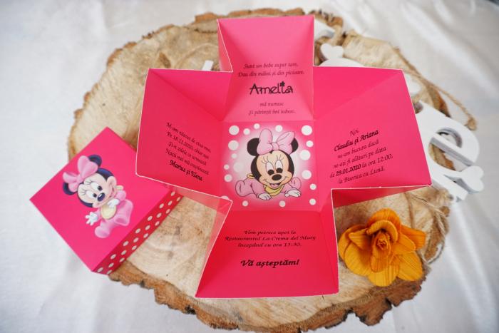 Invitatie de botez 3621B Minnie Mouse [0]