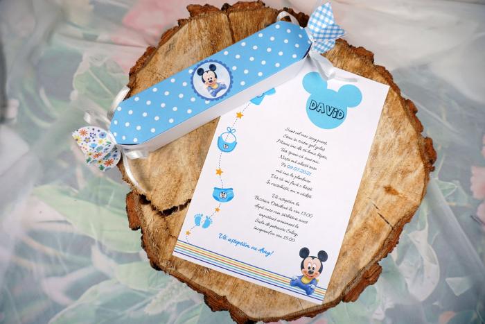 Invitatie de botez Blue Candy [0]
