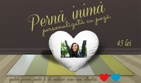 Perna inima personalizata cu poza / mesaj 1