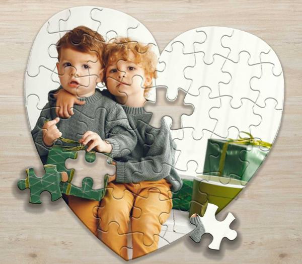 Puzzle inima personalizat cu poza si/sau mesaj 3