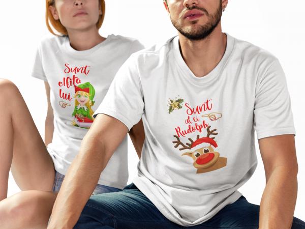 """Set tricouri familie """"Elfita si Rudolph"""" 1"""