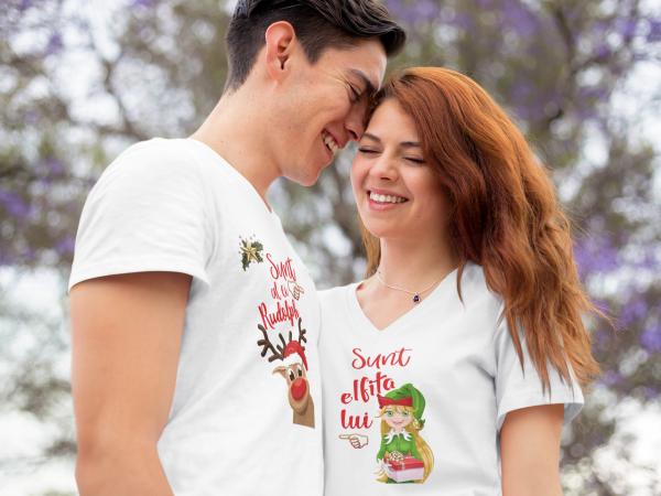 """Set tricouri familie """"Elfita si Rudolph"""" 4"""