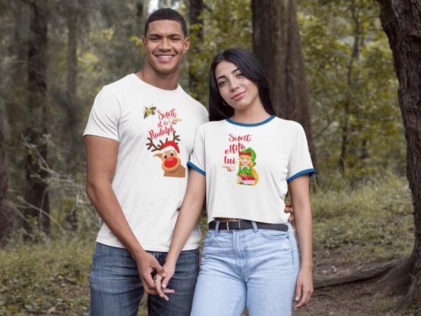 """Set tricouri familie """"Elfita si Rudolph"""" 3"""