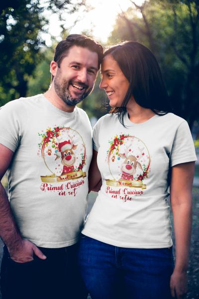 "Set tricouri familie ""Primul Craciun ca sot / sotie"" 0"
