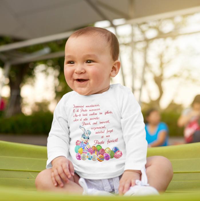Set tricouri pentru familie cu mesaj - Paste fericit! 5