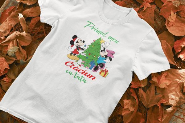 "Set tricouri familie ""Primul Craciun ca parinti"" 1"
