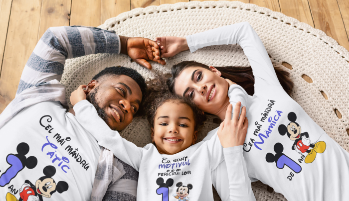 Set tricouri pentru familie cu mesaj - Aniversar Mickey [1]