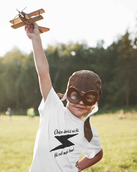 Tricou pentru copii personalizat cu text - Fii cel mai bun 0