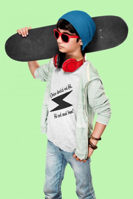 Tricou pentru copii personalizat cu text - Fii cel mai bun 2