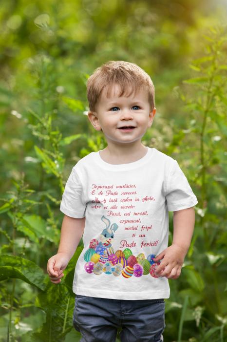 Tricou pentru copii personalizat cu text - Iepurasul de Paste [2]