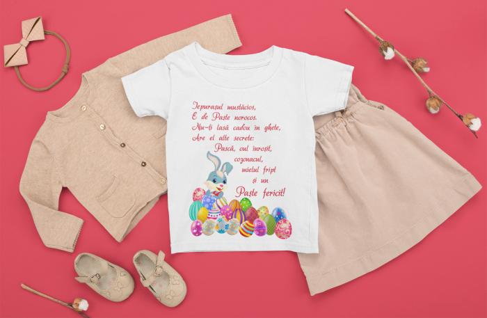 Tricou pentru copii personalizat cu text - Iepurasul de Paste [0]