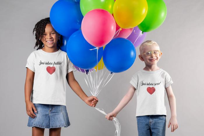 Tricou pentru copii personalizat - Imi iubesc fratele [2]