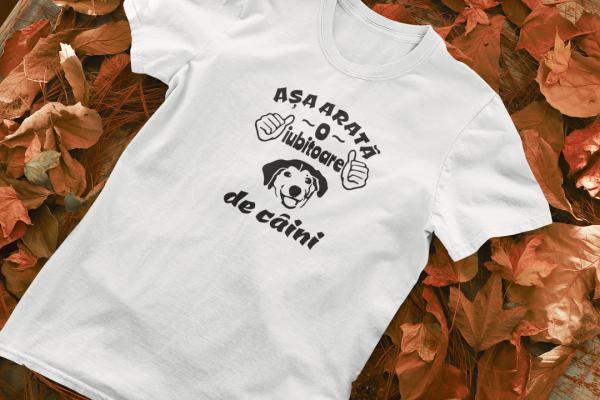 Tricou Personalizat - Asa arata o iubitoare de CAINI 0