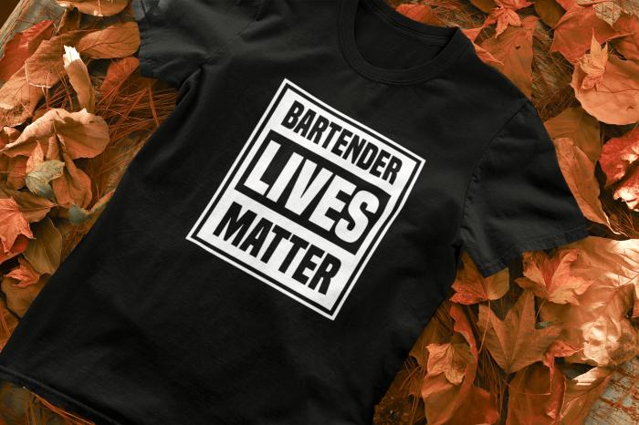 Tricou personalizat cu mesaj Bartender lives matter [1]