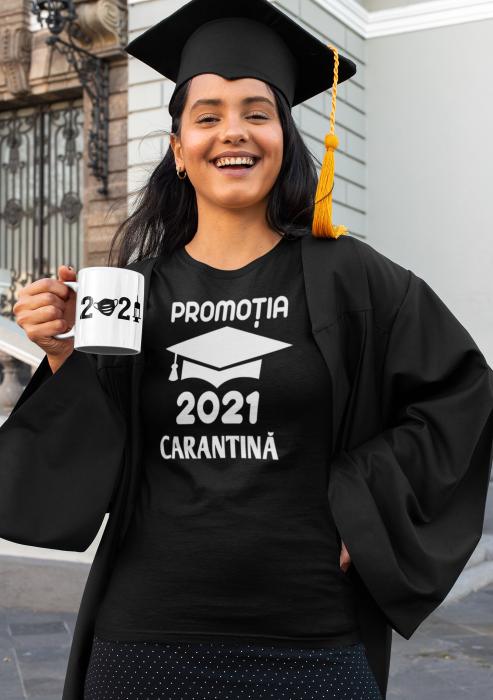 Tricou personalizat cu mesaj -  Absolvent 2021 Carantina [4]