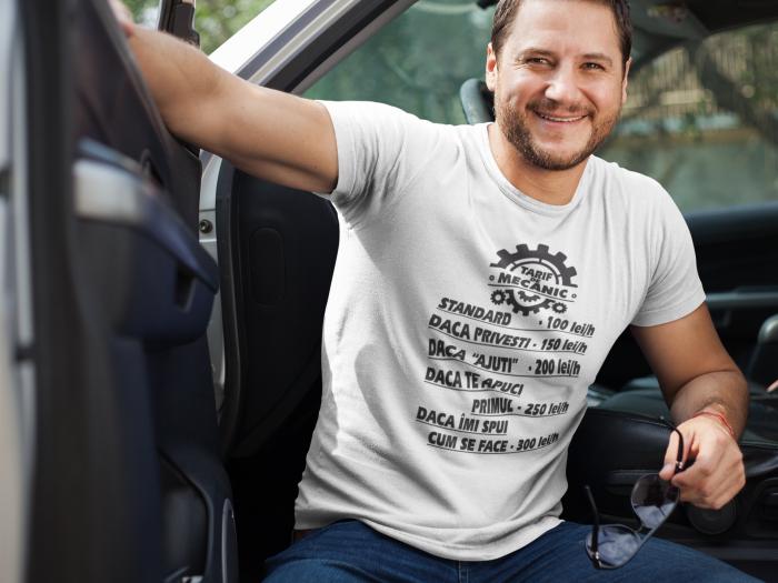 Tricou personalizat cu mesaj - Tarif de mecanic [2]