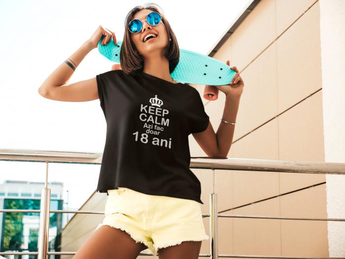 Tricou personalizat cu mesaj - Keep Calm - Azi fac doar 18 ani [5]