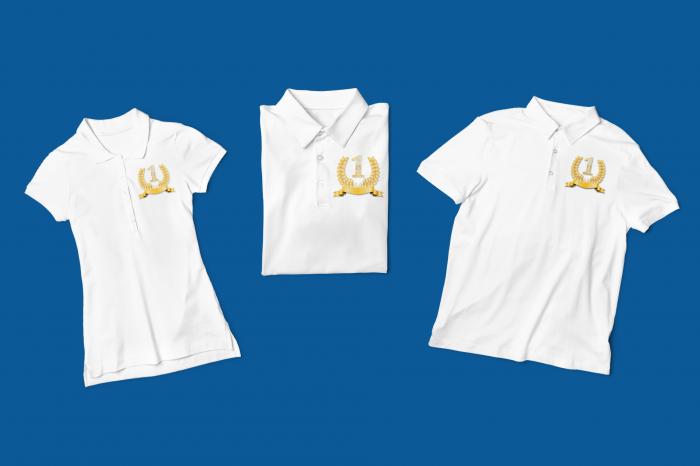 Tricou polo alb personalizat cu sigla pentru afacerea ta [2]
