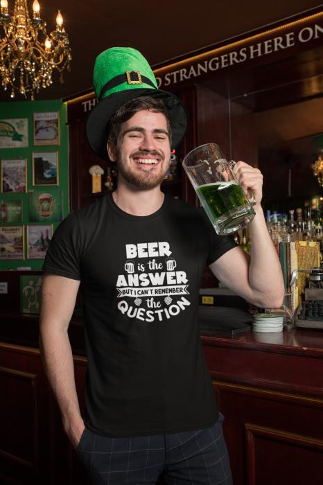 Tricou personalizat cu mesaj -  Beer is the answer [3]