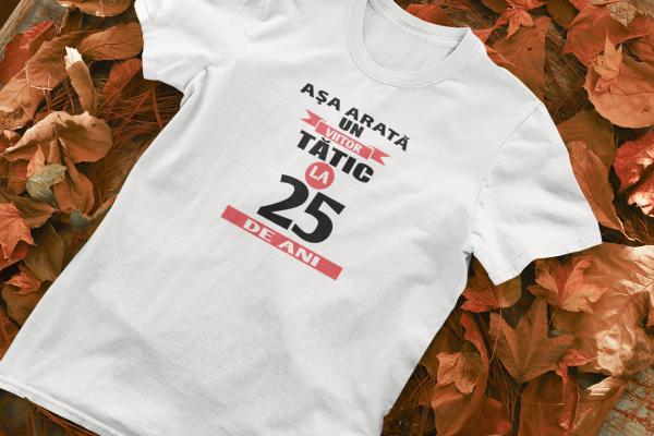 """Tricou personalizat cu mesajul """"Asa arata un viitor tatic"""" 0"""