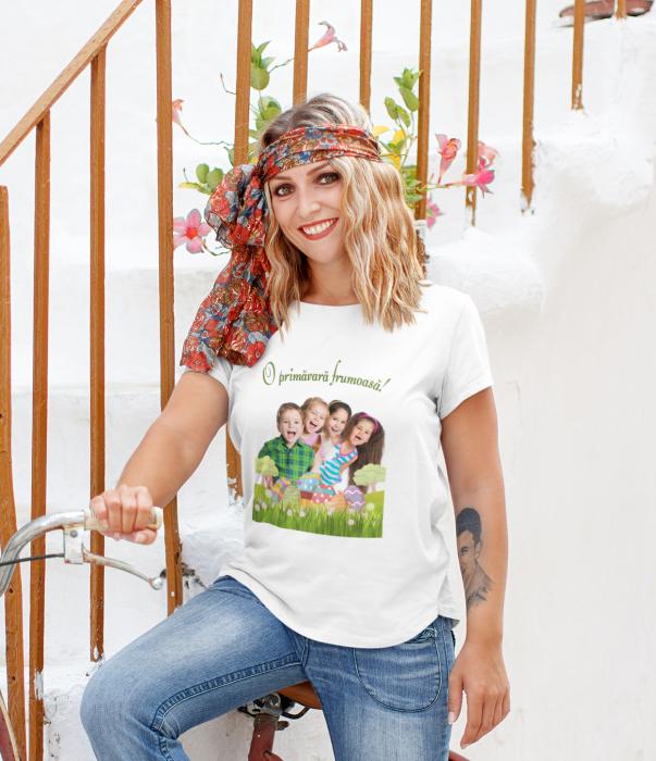 Tricou personalizat cu poza si mesaj - O primavara frumoasa [5]