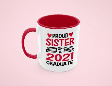 Cana personalizata cu poza / mesaj - Proud Sister of a Graduate [1]