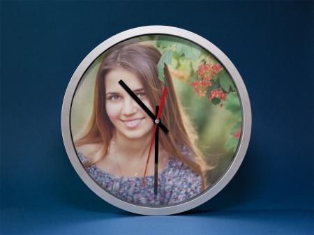Ceas rotund 20 cm aluminiu -  personalizat cu insertie foto1
