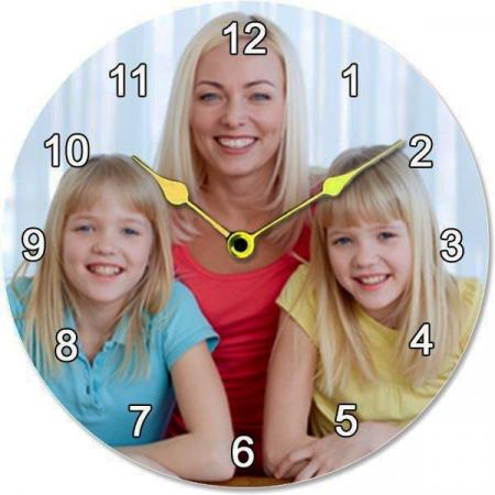 Ceas rotund 18 cm - personalizat cu poza2
