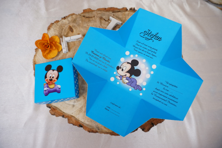 Invitatie de botez 3620B Mickey Mouse [0]