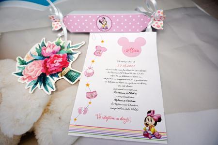 Invitatie de botez Pink Candy [2]