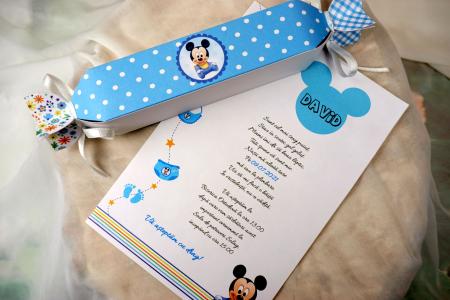 Invitatie de botez Blue Candy [2]