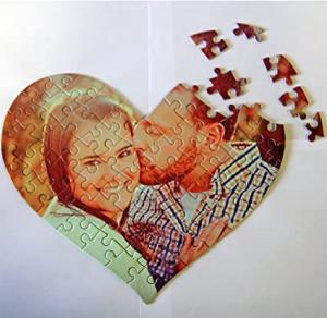 Puzzle inima personalizat cu poza si/sau mesaj1
