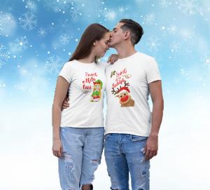 """Set tricouri familie """"Elfita si Rudolph""""0"""