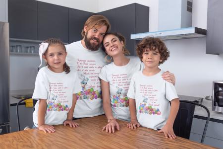 Set tricouri pentru familie cu mesaj - Paste fericit!0