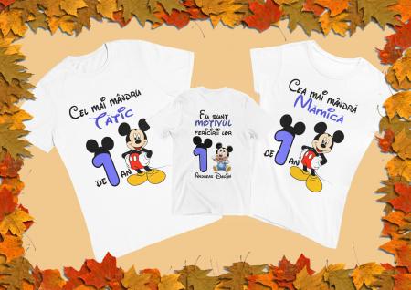 Set tricouri pentru familie cu mesaj - Aniversar Mickey [0]