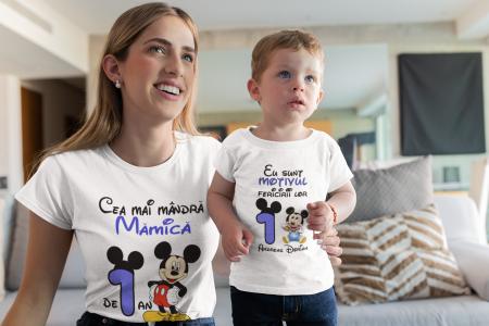 Set tricouri pentru familie cu mesaj - Aniversar Mickey [2]