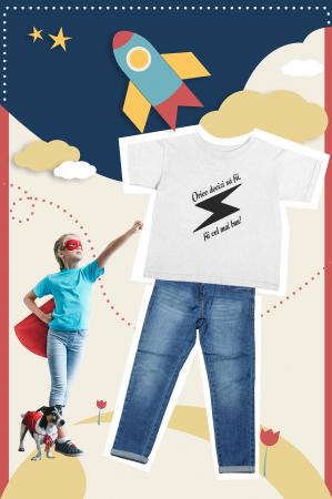 Tricou pentru copii personalizat cu text - Fii cel mai bun1