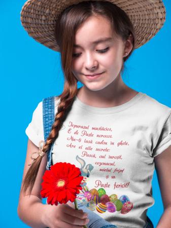 Tricou pentru copii personalizat cu text - Iepurasul de Paste [3]