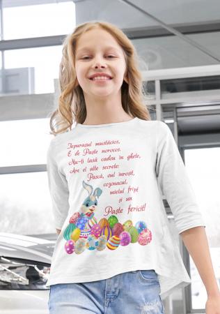 Tricou pentru copii personalizat cu text - Iepurasul de Paste [1]